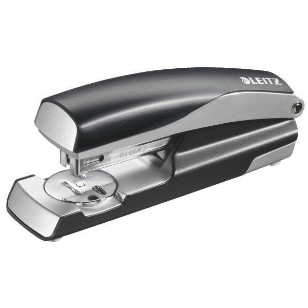 Capsator metalic LEITZ Style 5562 NeXXt Series, cutie, 30 coli - negru satin 1