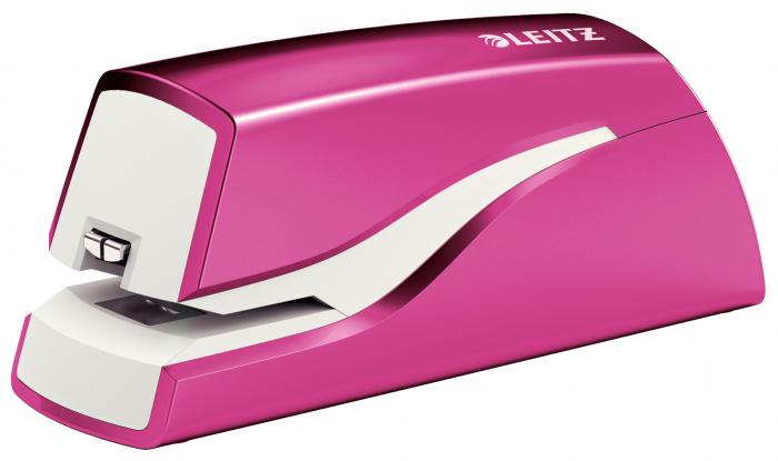 Capsator electric LEITZ Wow cu baterii NeXXt Series, 10 coli - roz metalizat 0