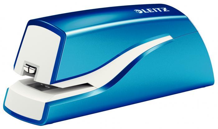 Capsator electric LEITZ Wow cu baterii NeXXt Series, 10 coli - albastru metalizat 1