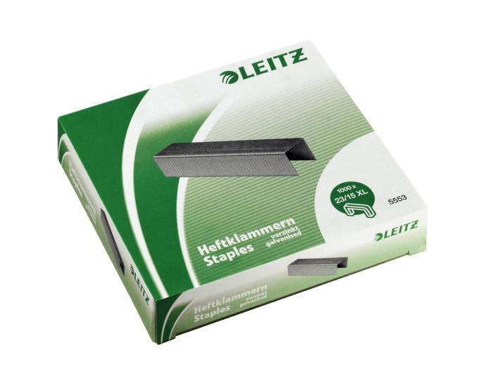 Capse LEITZ Power Performance 23/15XL, pentru capsatorul 5553, 1000/cutie 1