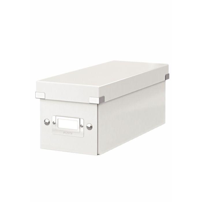 Cutie pentru 30/60 CD-uri, LEITZ Click & Store, carton laminat - alb 0
