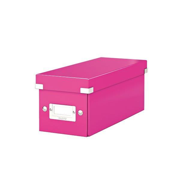 Cutie pentru 30/60 CD-uri, LEITZ Click & Store, carton laminat - roz 0