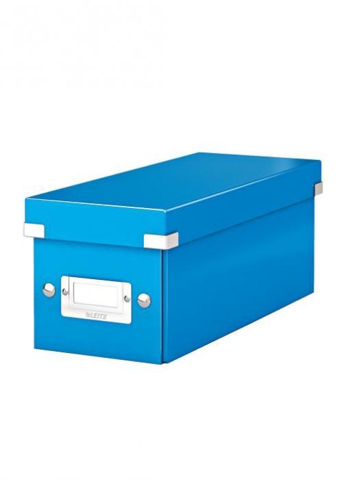 Cutie pentru 30/60 CD-uri, LEITZ Click & Store, carton laminat - albastru 0