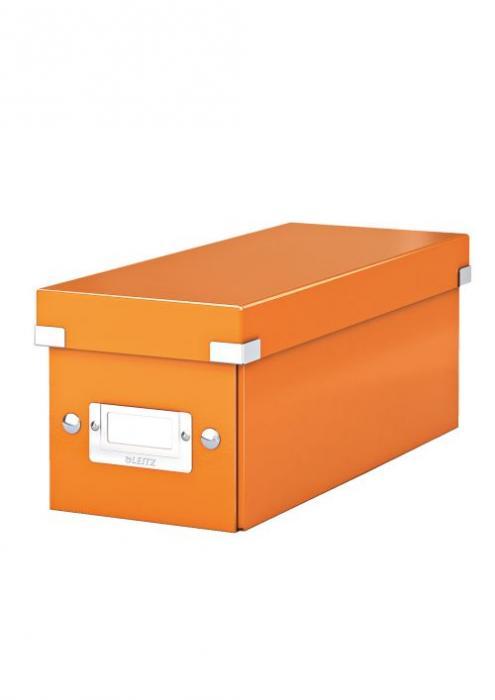 Cutie pentru 30/60 CD-uri, LEITZ Click & Store, carton laminat - portocaliu [0]