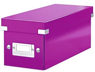 Cutie pentru 30/60 CD-uri, LEITZ Click & Store, carton laminat - mov 0