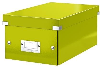 Cutie pentru 20/40 DVD-uri cu carcasa Jewel/Slim, LEITZ Click & Store, carton laminat - verde 0