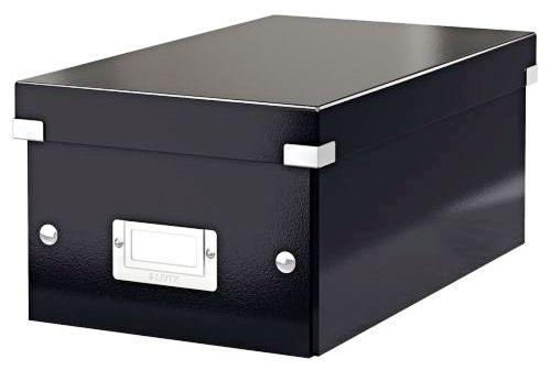 Cutie pentru 20/40 DVD-uri cu carcasa Jewel/Slim, LEITZ Click & Store, carton laminat - negru [0]