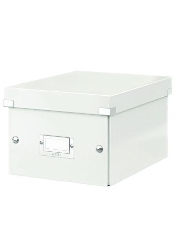 Cutie LEITZ Click & Store mica 216 x 160 x 282 mm, carton laminat - alb 0