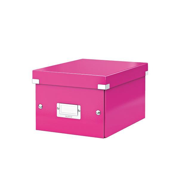 Cutie LEITZ Click & Store mica 216 x 160 x 282 mm, carton laminat - roz [0]
