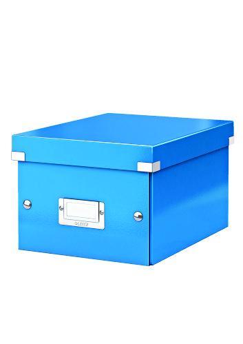 Cutie LEITZ Click & Store mica 216 x 160 x 282 mm, carton laminat - albastru 0