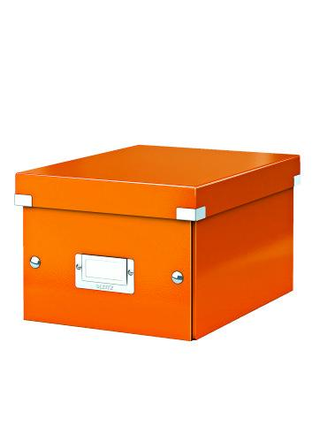 Cutie LEITZ Click & Store mica 216 x 160 x 282 mm, carton laminat - portocaliu 0