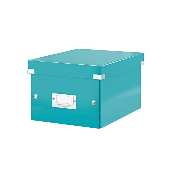 Cutie LEITZ Click & Store mica 216 x 160 x 282 mm, carton laminat - turcoaz [0]