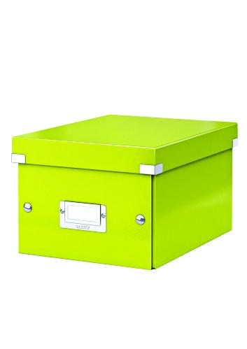 Cutie LEITZ Click & Store mica 216 x 160 x 282 mm, carton laminat - verde 0