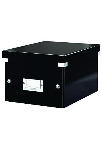 Cutie LEITZ Click & Store mica 216 x 160 x 282 mm, carton laminat - negru 0