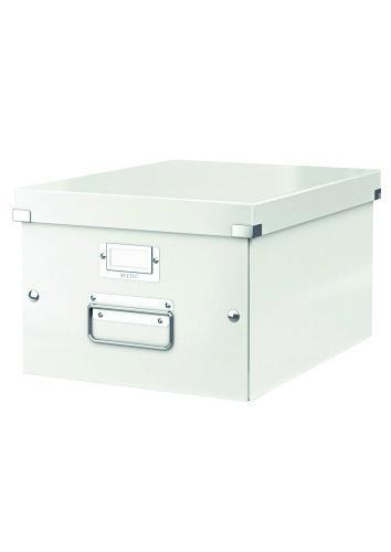 Cutie LEITZ Click & Store medie 281 x 200 x 369 mm, carton laminat - alb [0]