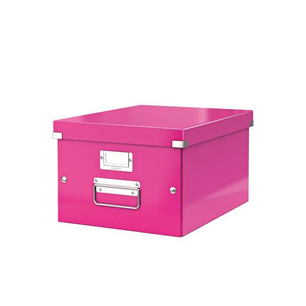 Cutie LEITZ Click & Store medie 281 x 200 x 369 mm, carton laminat - roz [0]