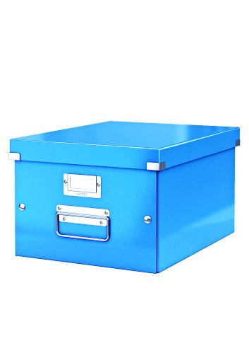 Cutie LEITZ Click & Store medie 281 x 200 x 369 mm, carton laminat - albastru 0