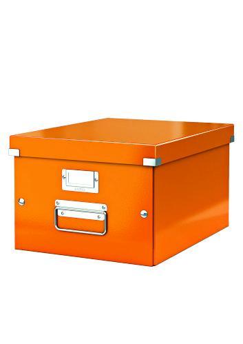 Cutie LEITZ Click & Store medie 281 x 200 x 369 mm, carton laminat - portocaliu [0]