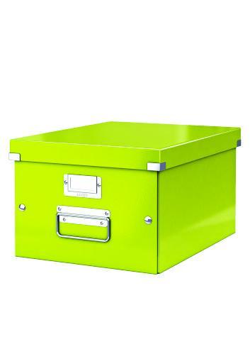 Cutie LEITZ Click & Store medie 281 x 200 x 369 mm, carton laminat - verde [0]