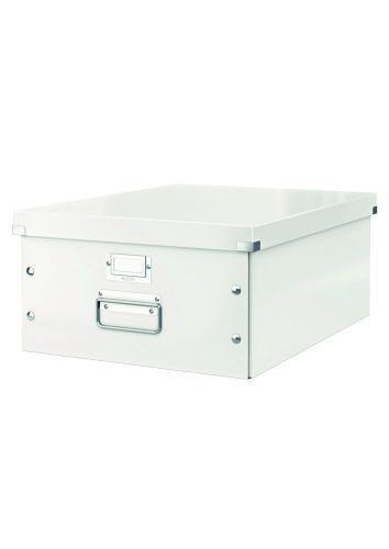 Cutie LEITZ Click & Store mare 369 x 200 x 484 mm, carton laminat - alb 0