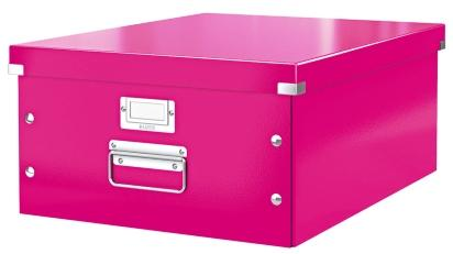Cutie LEITZ Click & Store mare 369 x 200 x 484 mm, carton laminat - roz 0