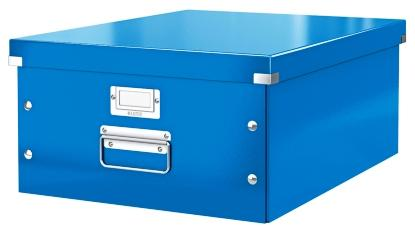 Cutie LEITZ Click & Store mare 369 x 200 x 484 mm, carton laminat - albastru 0
