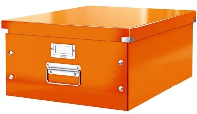 Cutie LEITZ Click & Store mare 369 x 200 x 484 mm, carton laminat - portocaliu [0]