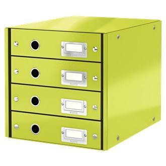 Suport cu 4 sertare LEITZ Click & Store, din carton laminat - verde 0