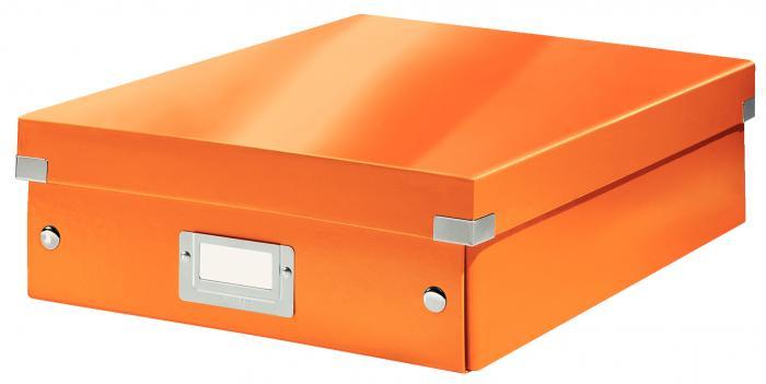 Cutie LEITZ Organizer Click & Store medie - portocaliu 0
