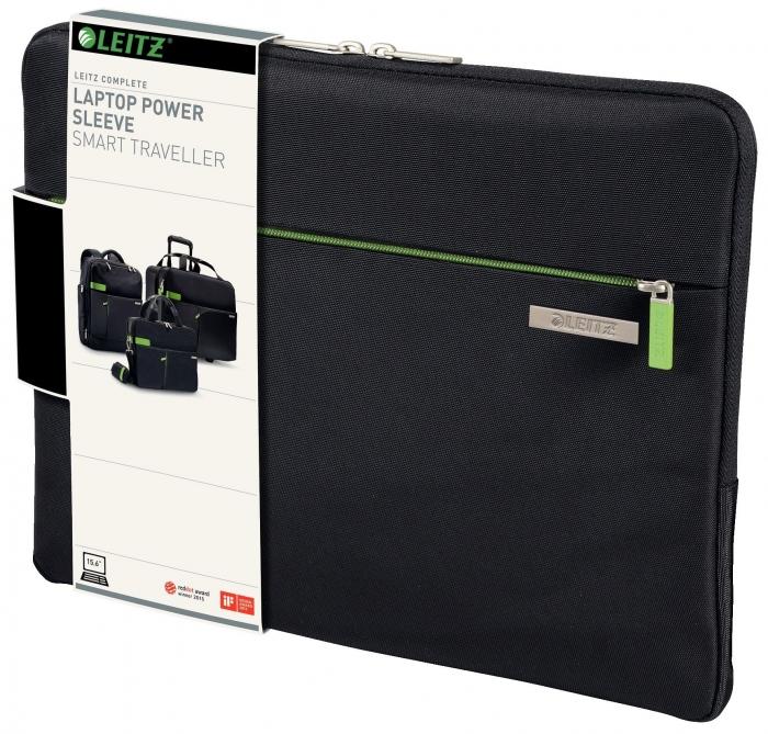 """Husă LEITZ Complete pentru Laptop 15,6"""" Smart Traveller - negru 0"""