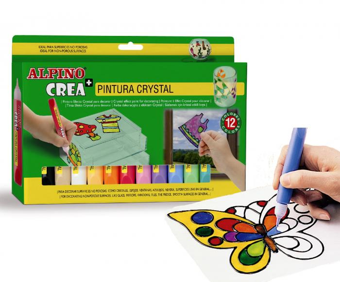 Set ALPINO Crea + Crystal Paint 2