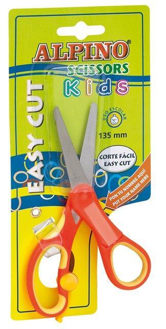 Foarfeca copiii, 13.5 cm, cu spatiu personalizare nume, in blister, ALPINO Kids 0