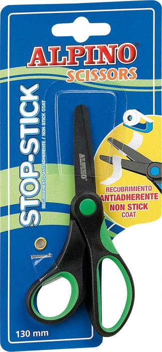 Foarfeca copiii, 13cm, cu rubber grip, in blister, ALPINO Stop Stick 2