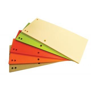 Separatoare carton pentru biblioraft, 180 g/mp, 105 x 235 mm, 100/set, Office Products Duo -asortate 0