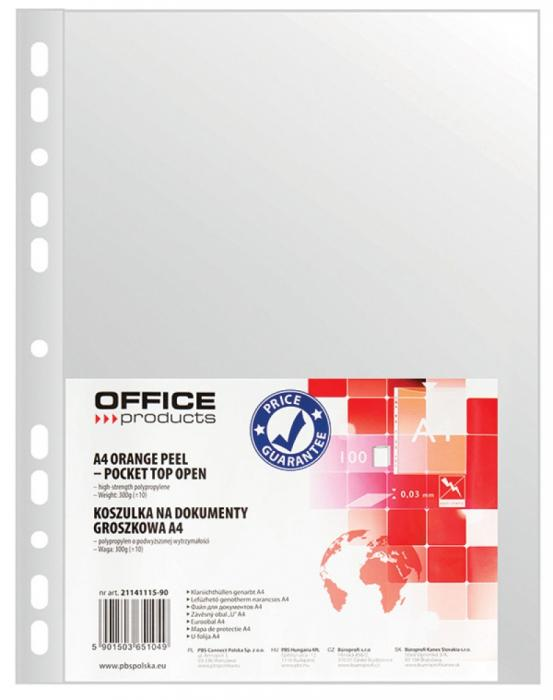 Folie protectie pentru documente A4, 30 microni, 100folii/set, Office Products - transparenta [0]