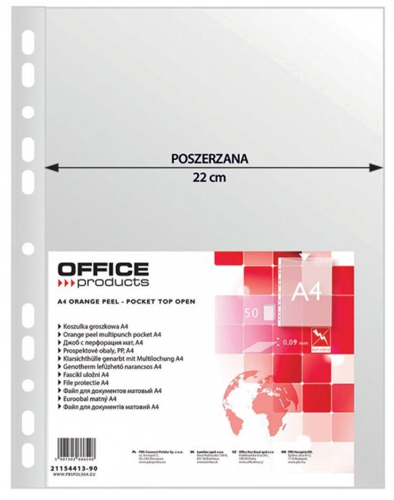 Folie protectie pentru documente A4, 90 microni, 50/set, Office Products Maxi - transparenta [0]