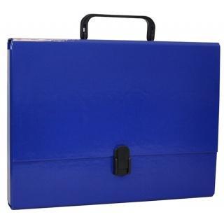Servieta din carton laminat, A4/5cm, cu inchidere si maner, Office Products - bleumarin [0]