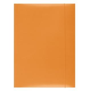 Mapa din carton plastifiat cu elastic, 300gsm, Office Products - orange 0