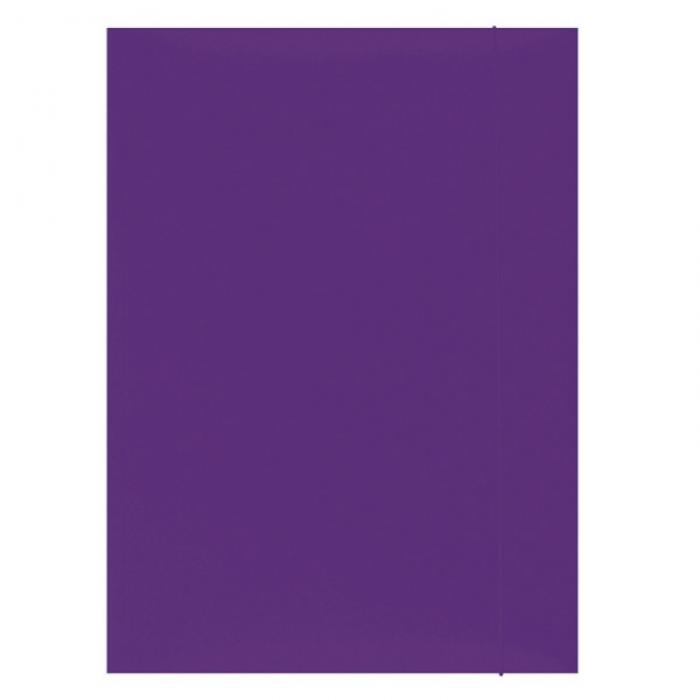 Mapa din carton plastifiat cu elastic, 300gsm, Office Products - violet [0]