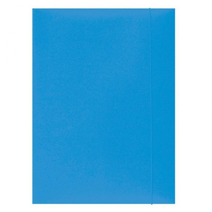 Mapa din carton plastifiat cu elastic, 300gsm, Office Products - bleu [0]