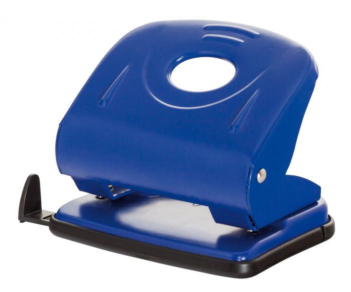 Perforator metalic, 30 coli, Office Products - albastru 0