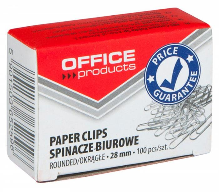 Agrafe metalice 28mm, 100/cutie, Office Products 0
