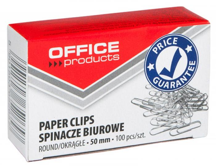 Agrafe metalice 50mm, 100/cutie, Office Products 0
