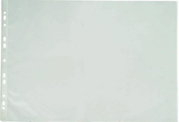 Folie protectie pentru documente A3 landscape, 90 microni, 25/set, Optima - transparent 0
