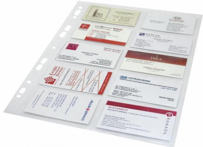 Folie protectie pentru 20 carti de vizita, 120 microni, 10/set, Optima - cristal [0]