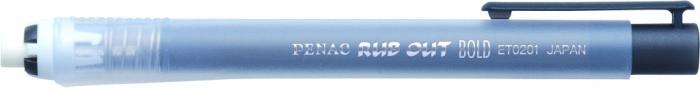 Radiera mecanica PENAC Rub Out Bold, cilindrica, 100% cauciuc - corp negru 2