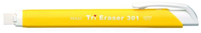 Radiera mecanica PENAC Tri Eraser, triunghiulara, 100% cauciuc - corp galben 1