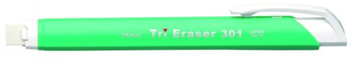 Radiera mecanica PENAC Tri Eraser, triunghiulara, 100% cauciuc - corp verde pastel 1