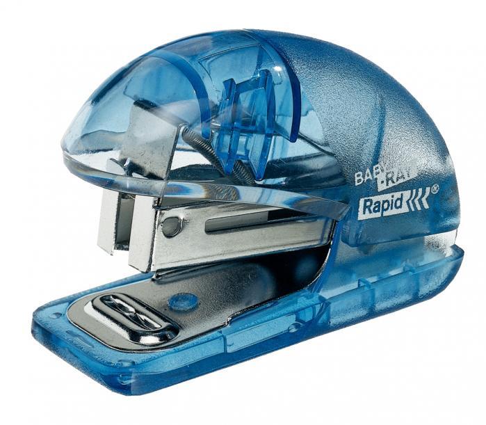 Mini-capsator plastic RAPID Baby Ray F4, 10 coli, blister - transparent [1]