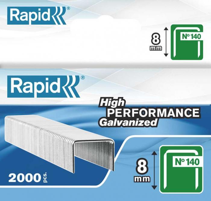 Capse RAPID 140/ 8, 2.000 buc/cutie - pentru pistol de capsat RAPID 0
